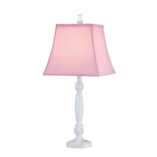 One Light Pink Fabric Shade Table Lamp Dy7u Cates Lighting At